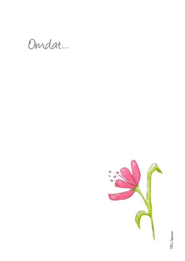 Bedankkaartje een bloemetje voor jou! 3