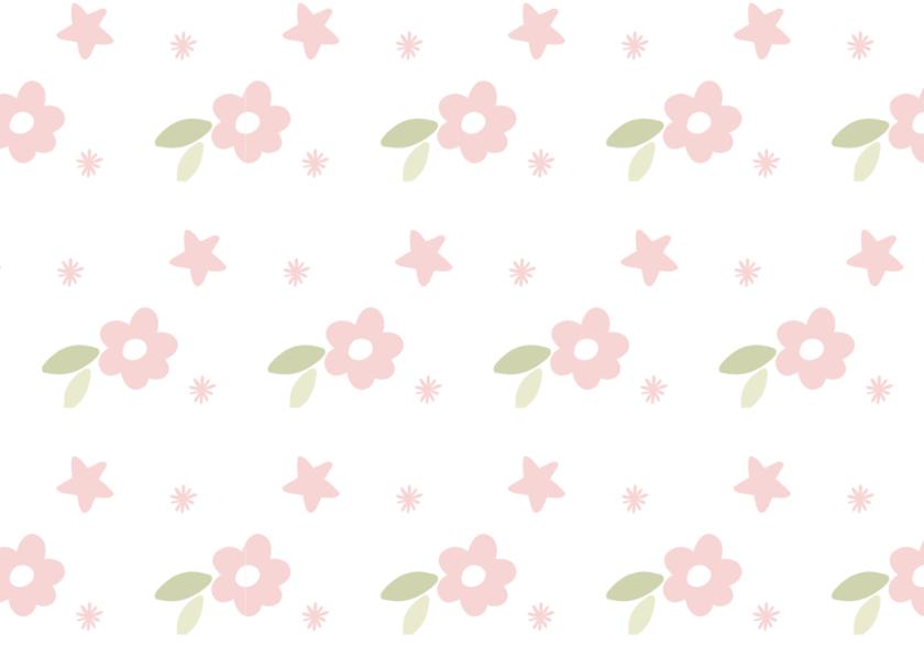 Bedankt / groen met bloemen 2