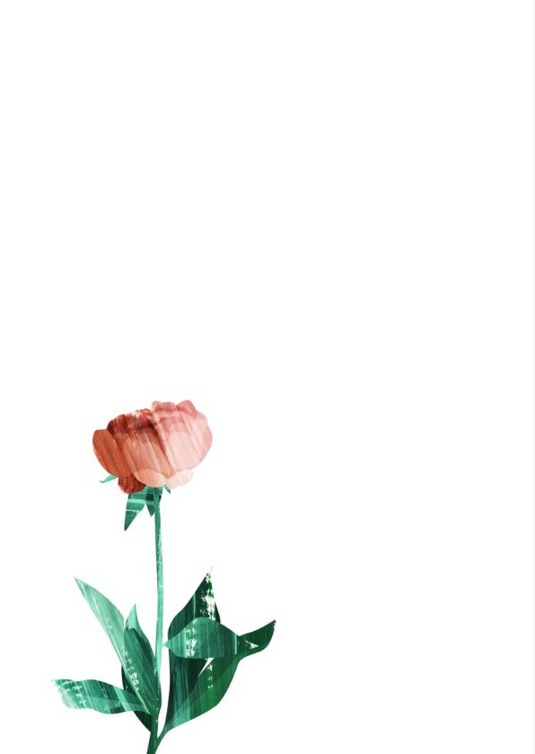 Bedankt kaart met roos 2