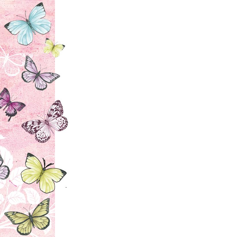 Bedankt met mooie vlinders 2