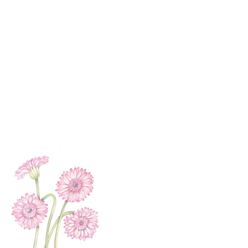 Bedankt met roze gerbera 2