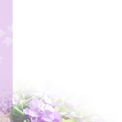 Bedankt orchidee rouwkaart 2