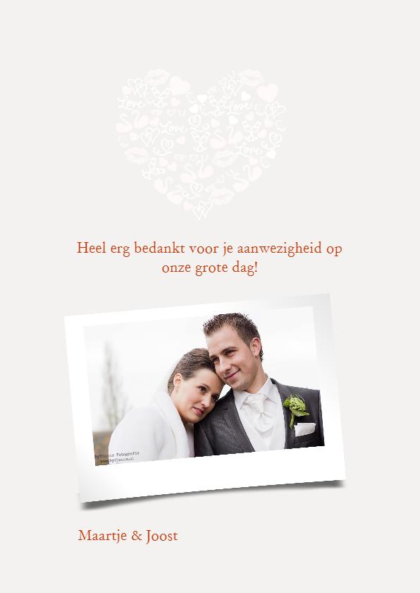 Bedankt trouwen iconenhart koper 3