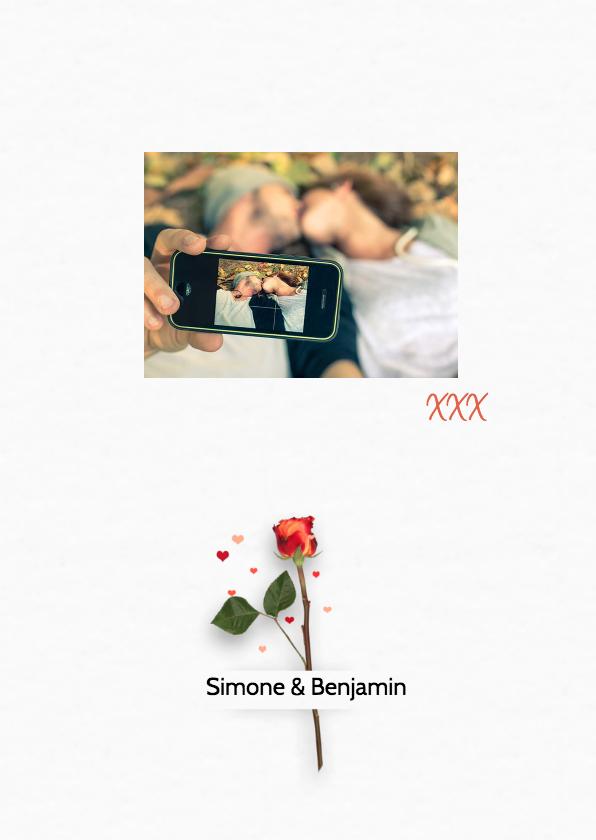 Bedankt trouwen roos RB 2