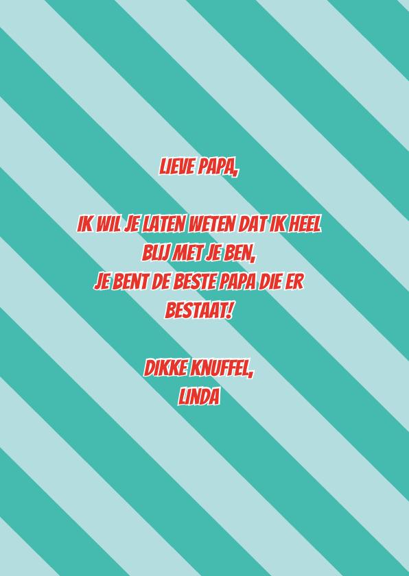 Best dad ever vaderdagkaart 3