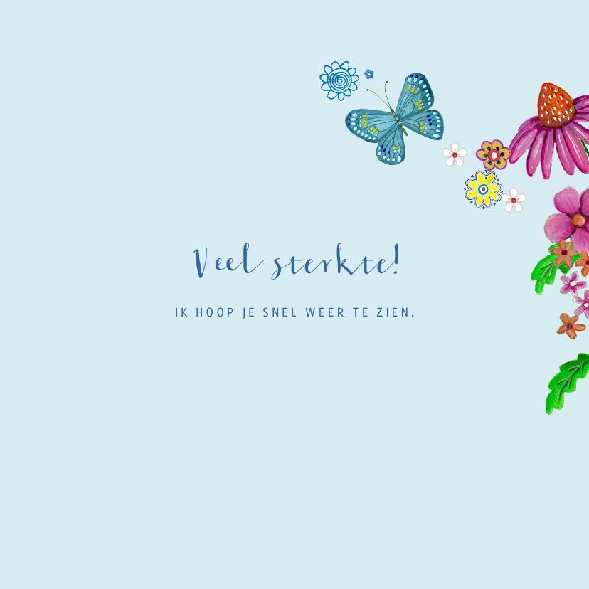 Beterschap Bloemen Hout hart vlinders 3