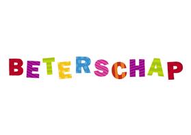 Beterschapskaarten - beterschap Gekleurde letters