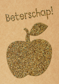 Beterschaps appel glitter look