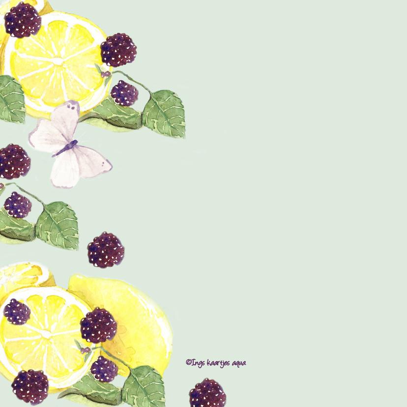 Beterschapskaart fruit met vlinders 2