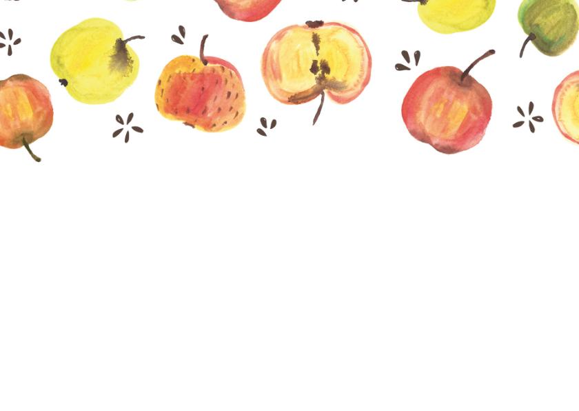 Beterschapskaart kleurige appels 2