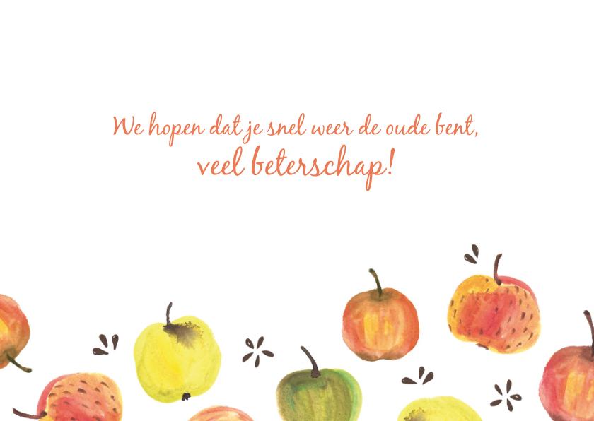 Beterschapskaart kleurige appels 3
