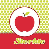 Sterkte kaarten - Beterschapskaart met appel