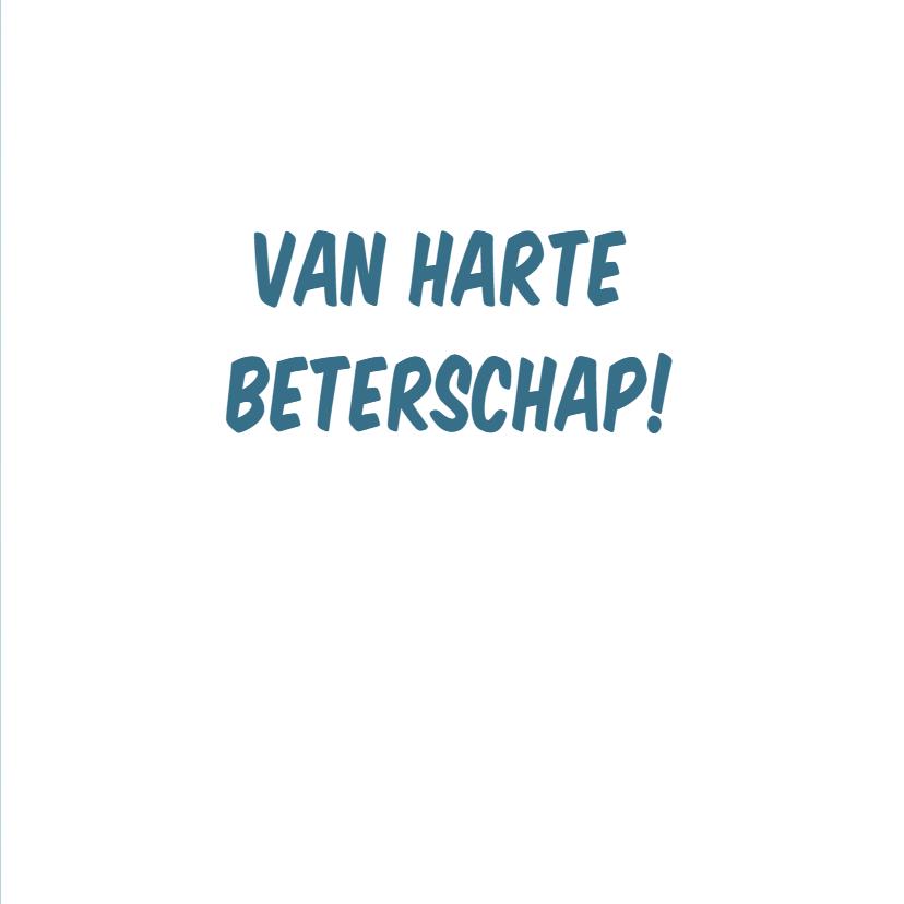 """Beterschapskaart met grappige cartoon """"Hans en Griepje' 3"""