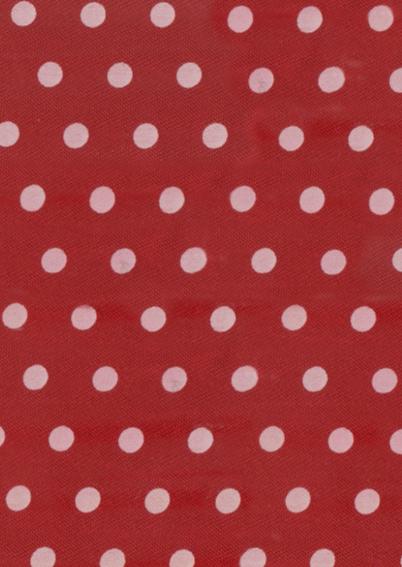 Beterschapskaart Pioenen met strikje op rood met stippen 2