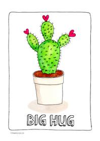 Liefde kaarten - Big hug cactus - SD