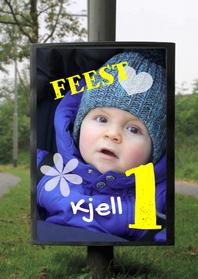 Kinderfeestjes - billboard foto jongen