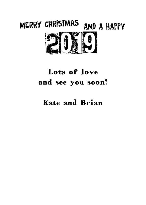 Black & white text 2019 3