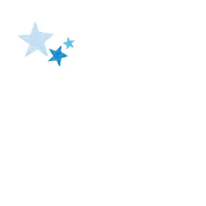 Blauw hart met sterren 2