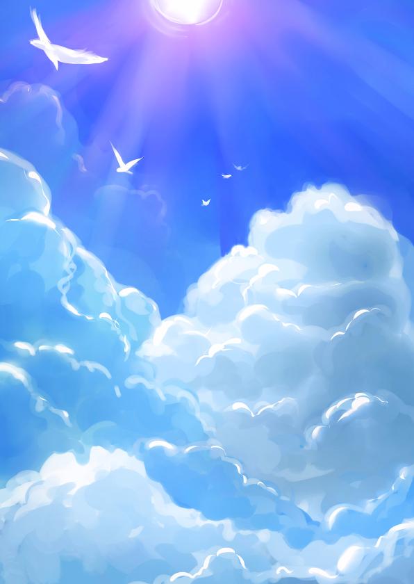 Blauwe luchten