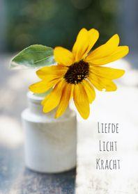 Sterkte kaarten - Bloem liefde licht-isf