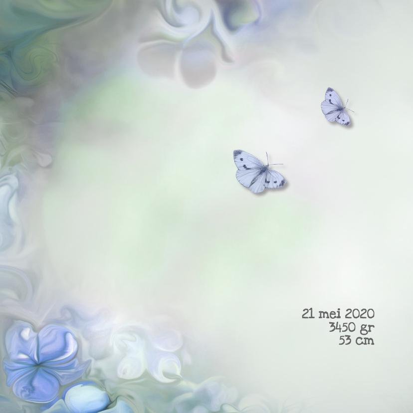Bloemen en vlinder -jongen- 2