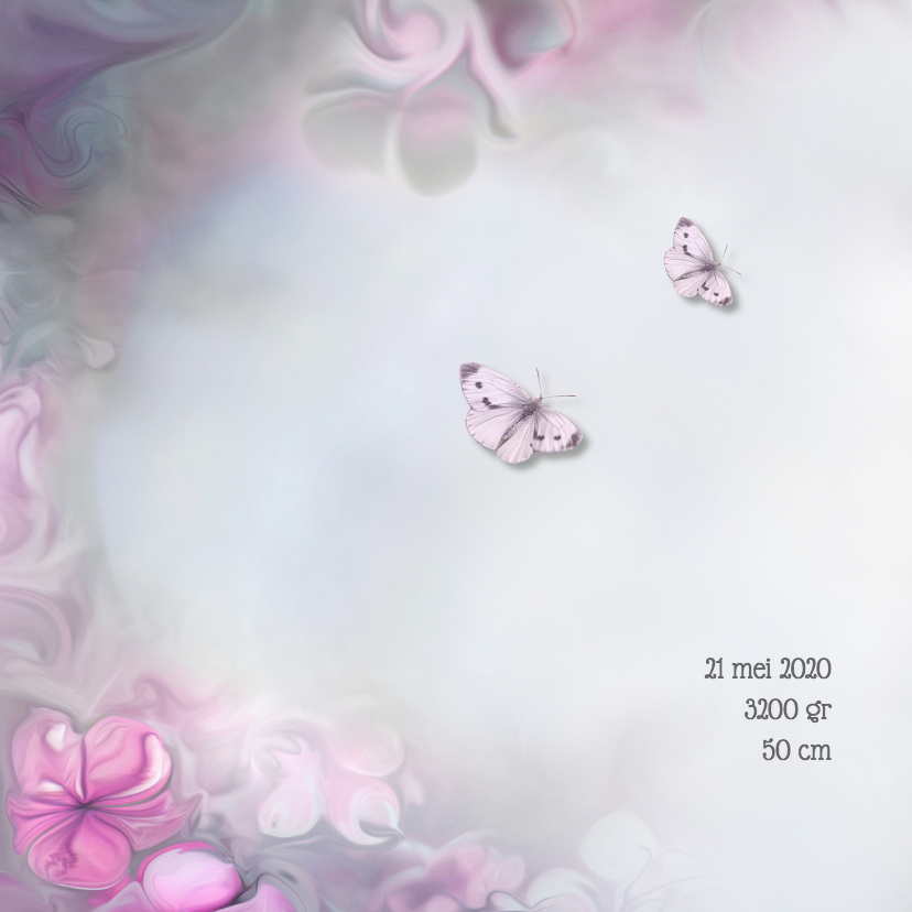 Bloemen en vlinders - meisje- 2