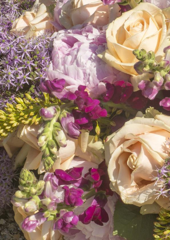 Bloemen luxe bloemetje geel-lila 2