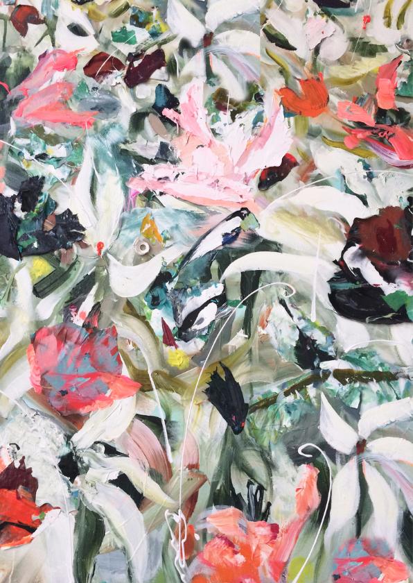 Bloemen print van kunst 2