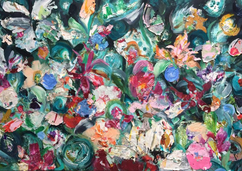 Bloemen schilderij kunst print 2
