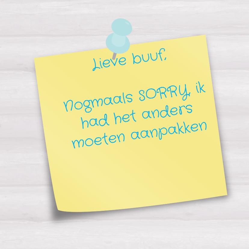 Bloemen sorry kaart -JH 3