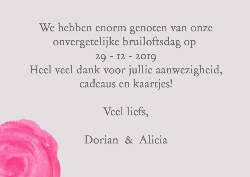 Bloemen thank you bruiloft - SU 3