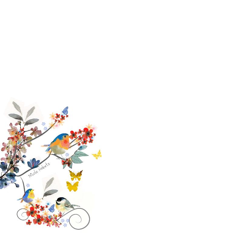 Bloemen vlinders en vogels 2