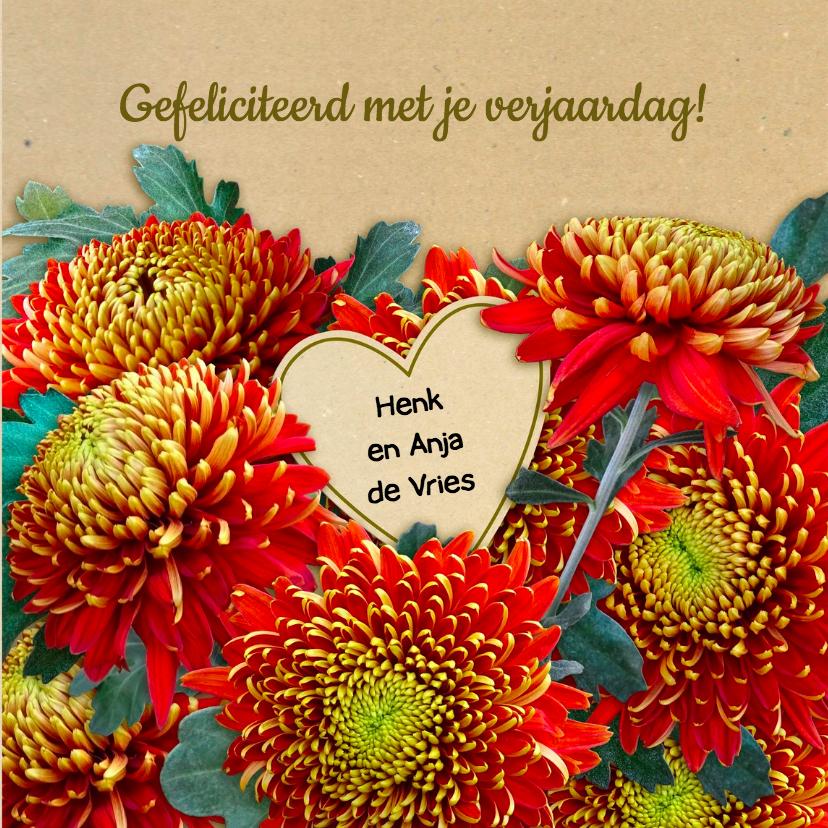 Bloemenkaart Chrysant foto - HE 3