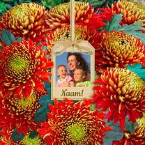 Bloemenkaarten - Bloemenkaart Chrysant foto - HE