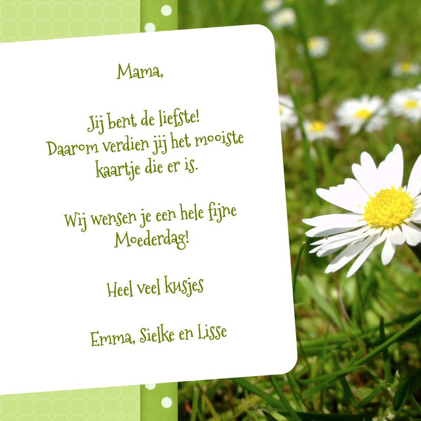 Bloemenkaart Madelief Mama - BK 3