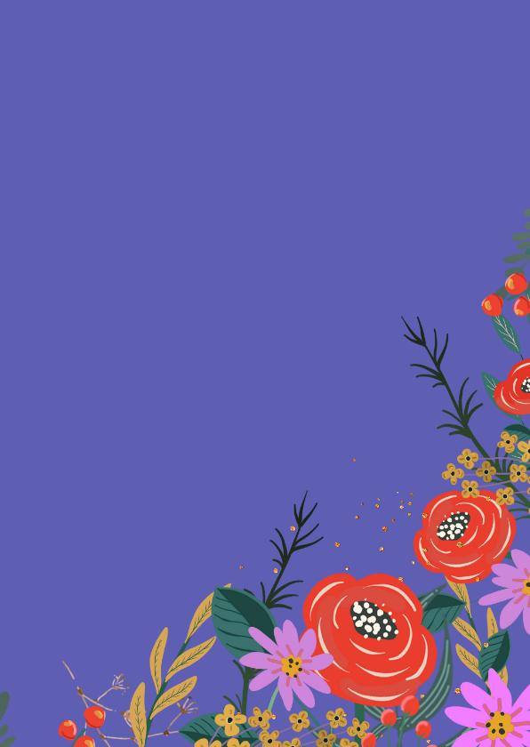 Bloemenkaart rood 3