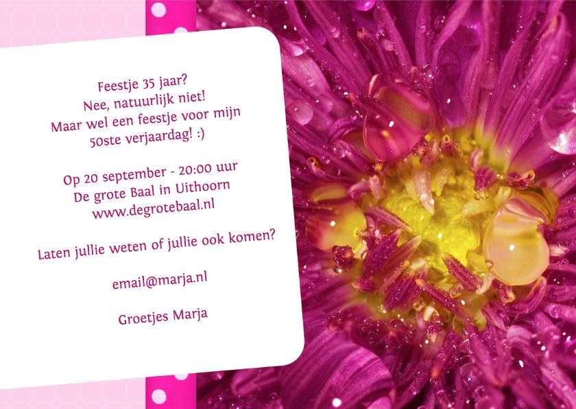 Bloemenkaart roze met geel - BK 3