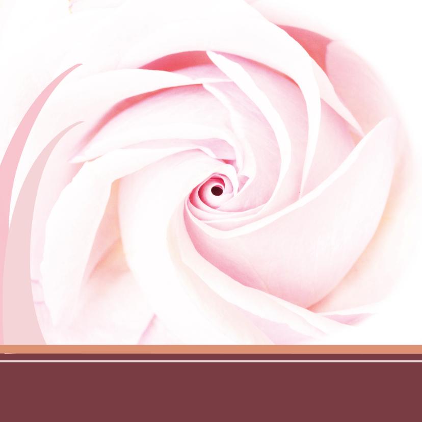 Bloemenkaart rozeroos balk 2