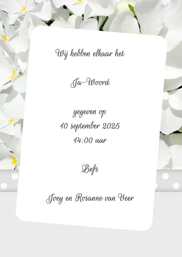 Bloemenkaart violen trouwen - BK 3