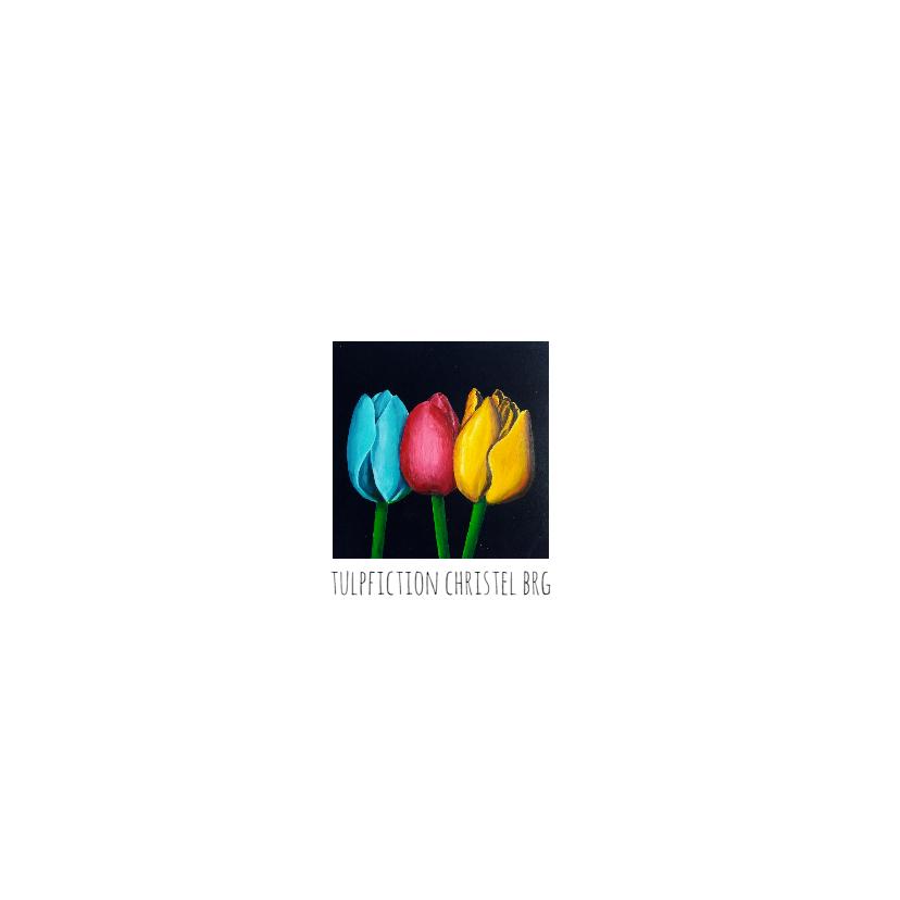 Bloemenkaarten Tulpfiction Christel blauwe tulp 2