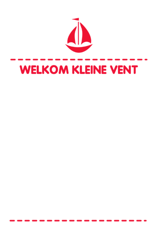 Bootje rood typo -DH 2