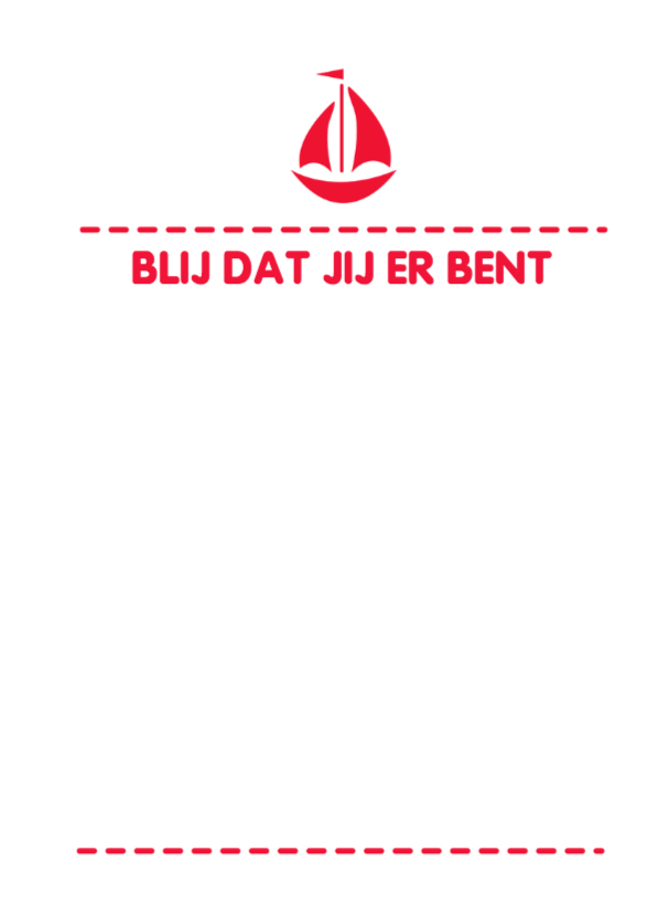 Bootje rood typo -DH 3