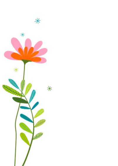 Bos bloemen in vaas op waterverf 2