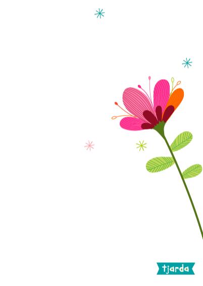 Bos bloemen in vaas op waterverf 3