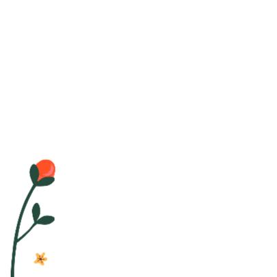 Bos bloemen op bruin craftpapier 2
