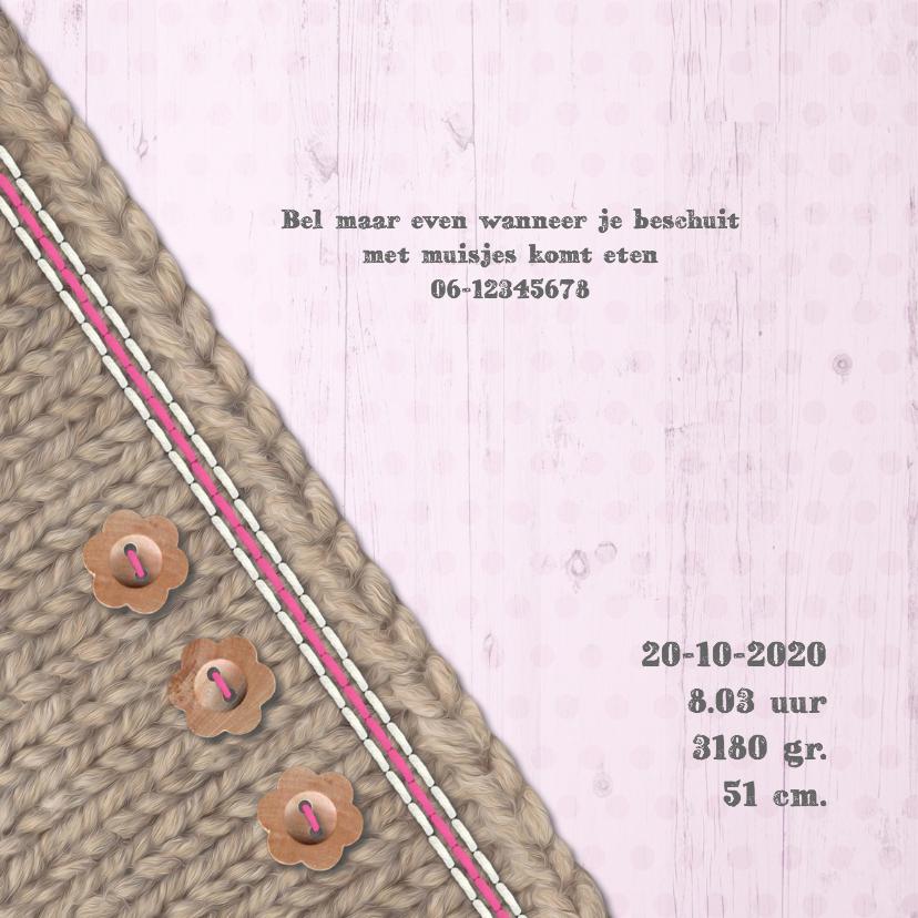 Breiwerk met knopen -meisje- 2