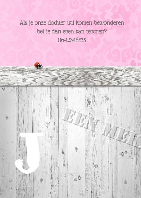 Brocante,  hout en lint -meisje- 2