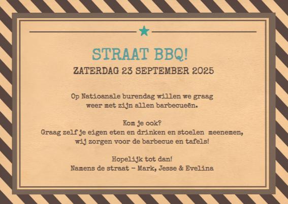 Burendag straatfeest uitnodiging 3