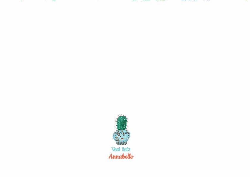 Cactus Uitnodiging Leeftijd 3