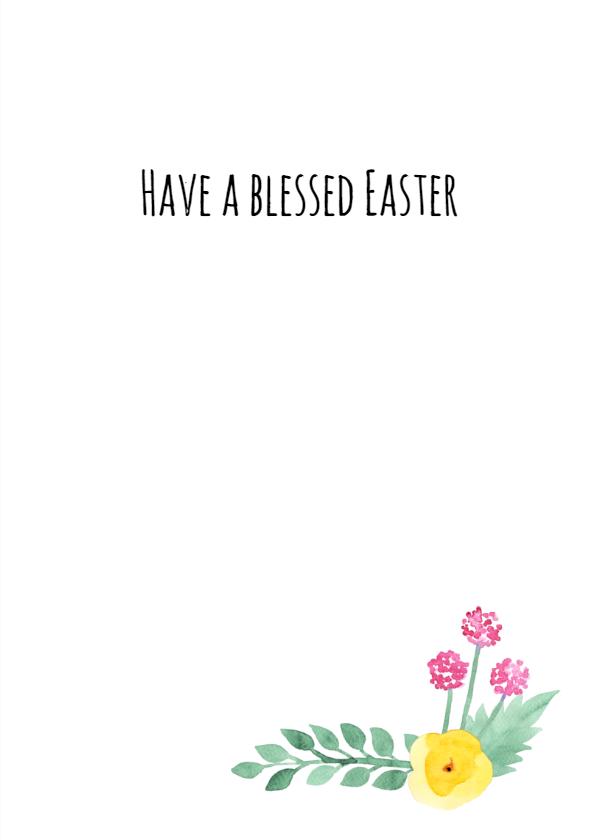 Christelijke paaskaart bloem 3